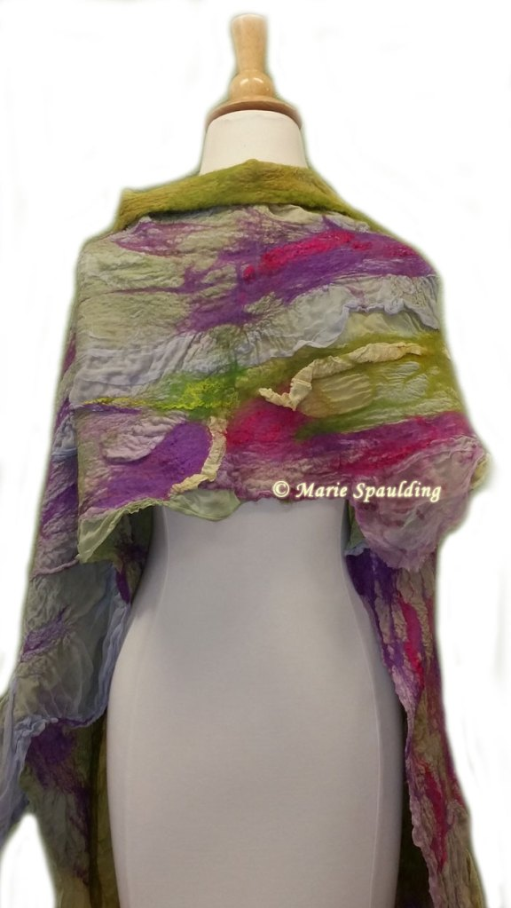 nuno felt wrap - fairy hollow by Marie Spaulding of Living Felt