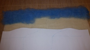 felted picture tutorial painting landscape longhorn