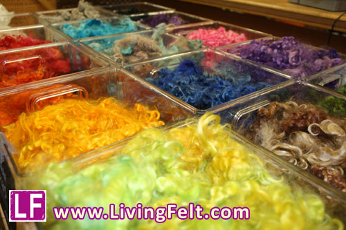 Living Felt Locks Bar, Wool and Mohair Locks