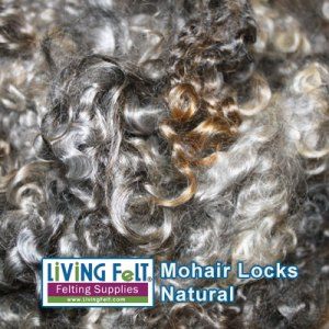 Natural Gray Mohair Locks Washed with Beyond Clean by Unicorn Fibre
