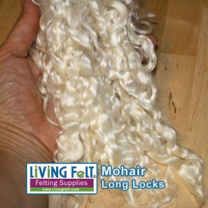 Long White Mohair Locks washed with Unicorn Beyond Clean