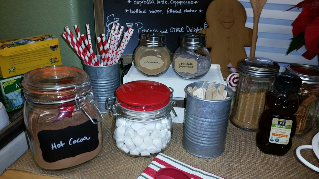 Hot Chocolate Bar, Popcorn Bar, Coffee Bar...its out TREAT BAR at Living Felt.